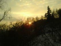 Vista di tramonto Immagine Stock