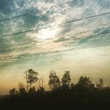 Vista di tramonto Fotografia Stock Libera da Diritti