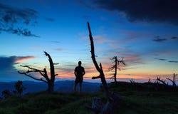 Vista di tramonto Fotografia Stock