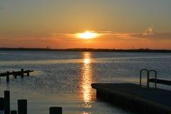 Vista di tramonto all'estremità dell'isola fotografia stock libera da diritti
