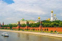Vista di tramonto del Cremlino a Mosca, Russia fotografie stock