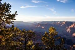 Vista di tramonto del parco nazionale di Grand Canyon Fotografie Stock Libere da Diritti