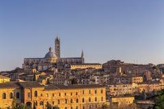 Vista di tramonto di Siena, Italia Immagini Stock Libere da Diritti