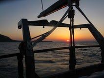Vista di tramonto, Santorini fotografie stock libere da diritti
