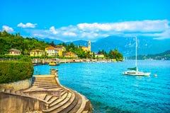Vista di Tremezzo Tremezzina, paesaggio del distretto del lago Como L'Italia, E immagine stock