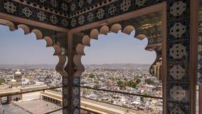 Vista di Udaipur dal palazzo della città Fotografia Stock Libera da Diritti