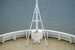Vista di un arco della nave Immagine Stock