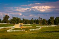 Vista di un'azienda agricola in Howard County rurale, Maryland fotografia stock
