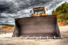 Vista di un bulldozer Fotografia Stock