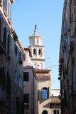 Vista di un campanile e delle case a Venezia Fotografia Stock Libera da Diritti