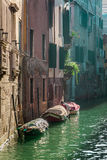 Vista di un canale a Venezia Immagini Stock Libere da Diritti