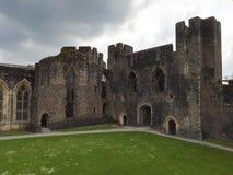 Vista di un castello di lingua gallese Immagine Stock Libera da Diritti