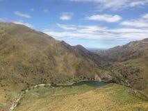 Vista di un lago nelle montagne a Capilla del Monte, rdoba del ³ di CÃ, Argentina nel lago Los Alazanes Immagini Stock