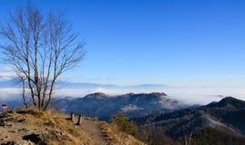Vista di un mare di nebbia Fotografia Stock