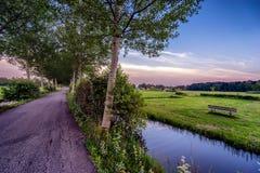 Vista di un paesaggio vicino ad Utrecht Fotografia Stock