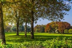 Vista di un parco pubblico a Torino Piemonte, Italia fotografia stock