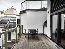 Vista di un terrazzo a Vienna fotografie stock