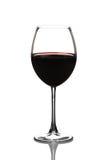 Vista di un vetro del vino rosso Immagine Stock