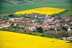 Vista di un villaggio di Transylvanian Fotografie Stock Libere da Diritti