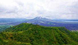Vista di un vulcano estinto mexico fotografia stock