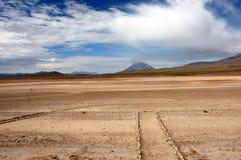 Vista di un vulcano le Ande - nel Perù immagine stock