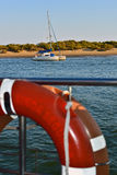 Vista di una barca a vela Immagini Stock Libere da Diritti