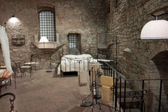 Vista di una camera da letto medioevale, Perugia Fotografia Stock