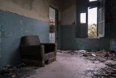 Vista di una casa abbandonata Fotografia Stock