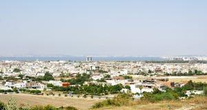 Vista di una città in Tunisia Immagini Stock Libere da Diritti