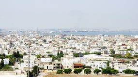 Vista di una città in Tunisia Immagine Stock Libera da Diritti