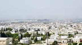 Vista di una città in Tunisia Immagine Stock