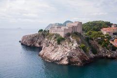 Vista di una cittadella vicino alla vecchia città di Ragusa, Croazia Fotografia Stock