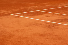 Vista di una corte di tennis fotografia stock