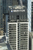 Vista di una costruzione di appartamento costruita da Meriton a Sydney CBD Fotografia Stock