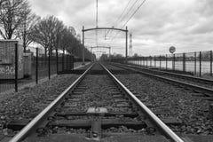 Vista di una ferrovia a Eindhoven Fotografia Stock Libera da Diritti