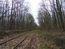 Vista di una pista abbandonata Immagine Stock