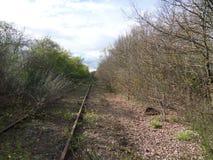 Vista di una pista abbandonata Fotografie Stock