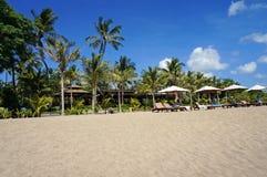 Vista di una spiaggia meravigliosa di balinese Immagine Stock