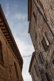 Vista di una via in Spello, Umbria, Italia Fotografia Stock Libera da Diritti