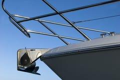 Vista di Upclose dell'ancoraggio dell'yacht Fotografia Stock Libera da Diritti