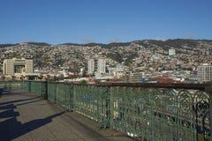 Vista di Valparaiso dal barone di Mirador Fotografia Stock Libera da Diritti