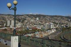 Vista di Valparaiso nel Cile dal barone di Mirador Fotografia Stock Libera da Diritti