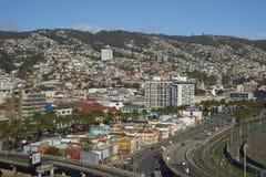 Vista di Valparaiso nel Cile dal barone di Mirador Fotografie Stock