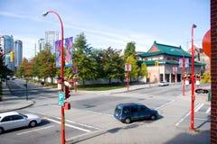 Vista di Vancouver Chinatown Fotografia Stock Libera da Diritti