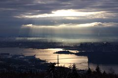 Vista di Vancovuer, Canada Immagine Stock Libera da Diritti
