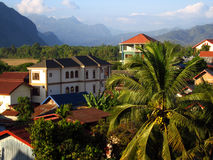 Vista di Vang Vieng Immagini Stock