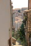 Vista di vecchi tetti della città di Ragusa Immagine Stock