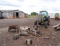 Vista di vecchia azienda agricola Fotografia Stock