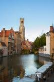 Vista di vecchia Bruges, Belgio fotografie stock libere da diritti