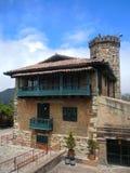 Vista di vecchia casa coloniale Immagini Stock Libere da Diritti